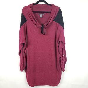 Miss chievous Women's Plus Size cowl neck sweater